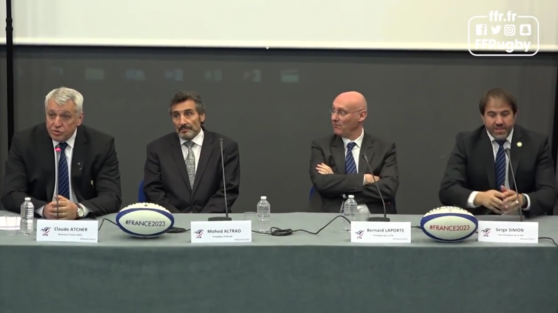 Press Conference - France 2023 - Altrad supports the XV de France and the World Cup in France - 2017